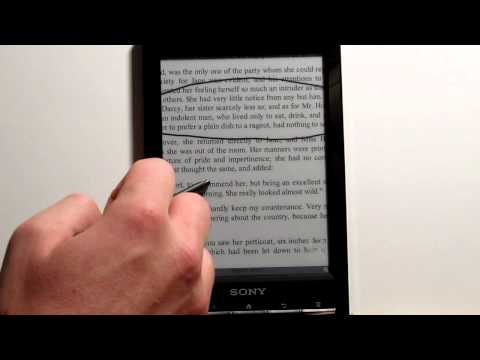 Sony Prs-t1 Pdf Review - Sony Reader Wi-fi video