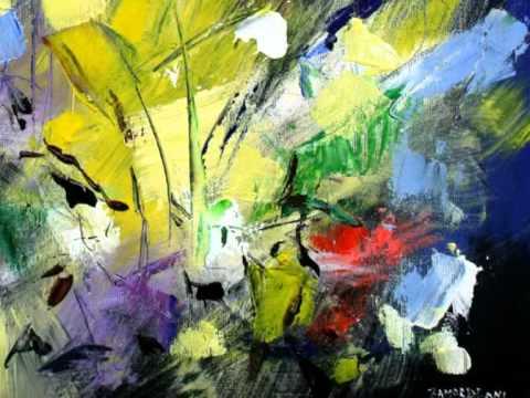 quadri floreali e paesaggi astratti del pittore mario