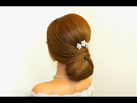 Bridal wedding hairstyles for long hair. Updo hairstyles.