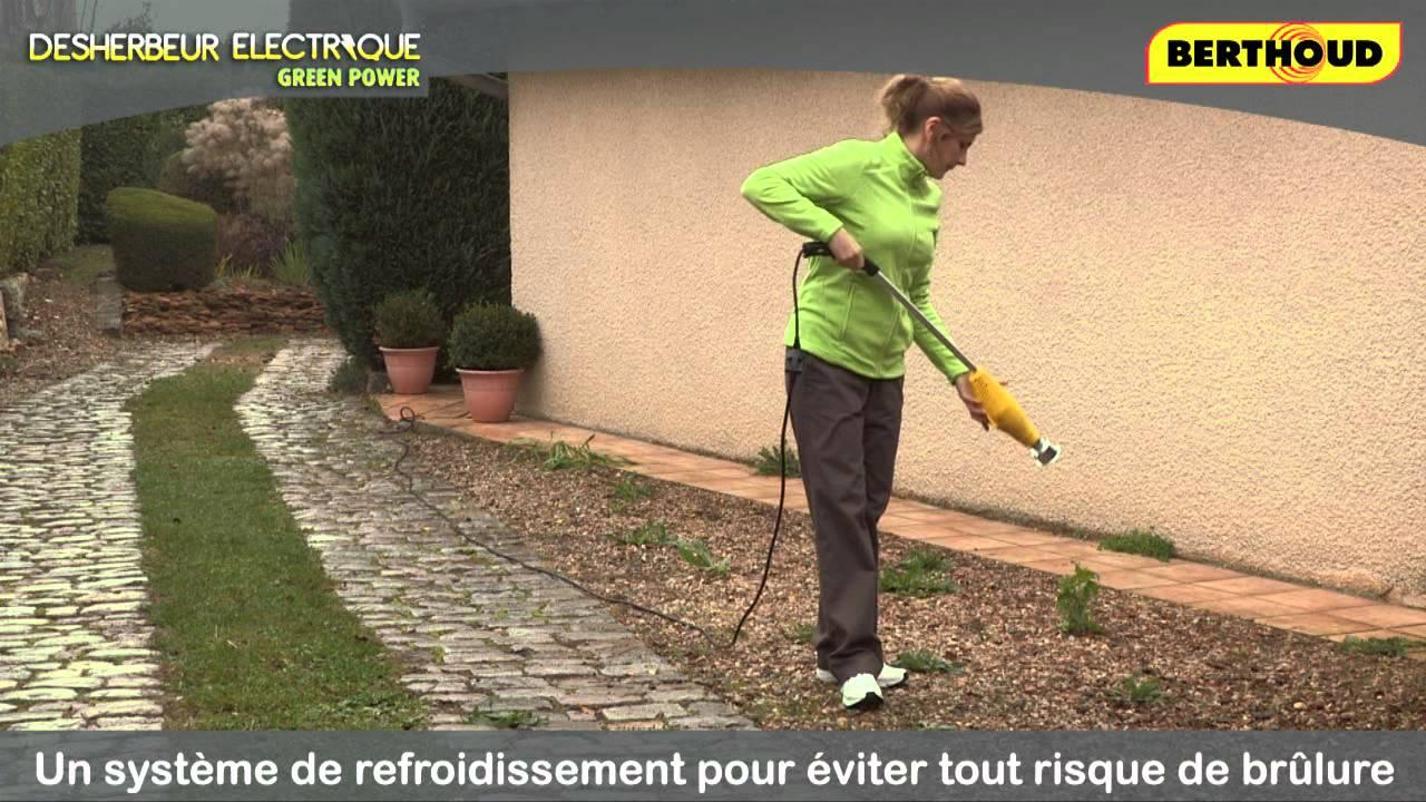 D sherbeur lectrique green power berthoud youtube for Detruire les mauvaises herbes