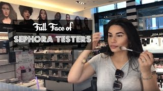 Full Face Using Sephora Testers?!   Yessi Waters