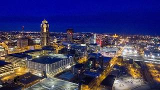 Drone Downtown Des Moines ~ 4K UHD