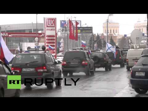 Russia: Motorists rev their patriotic engines for Crimea referendum