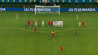 RONALDO Hattrick vs Spain 3-3 Free Kick HD Wide Camera angle
