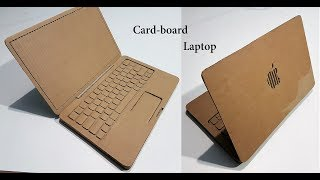 How to Make A laptop with Cardboard : Apple laptop