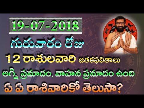 19-07-2018 Guruvaram Roju Rshipalithalu|Daliy Jathakam|Horoscope in Telugu|Astro Syndicate