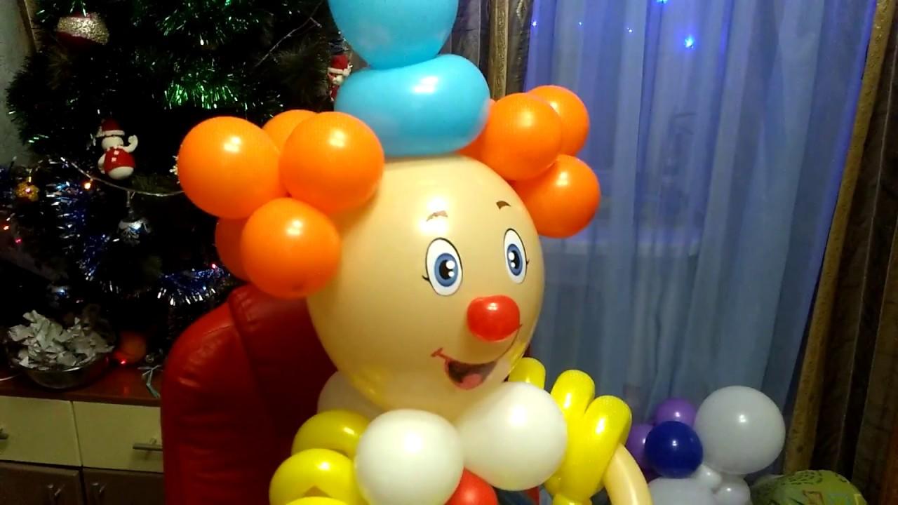 Клоун из воздушных шаров своими руками 878