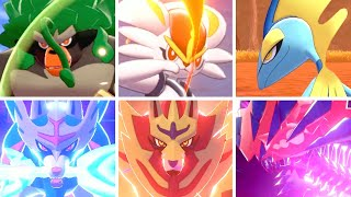 Pokémon Sword & Shield - All Starter & Legendary Signature Moves