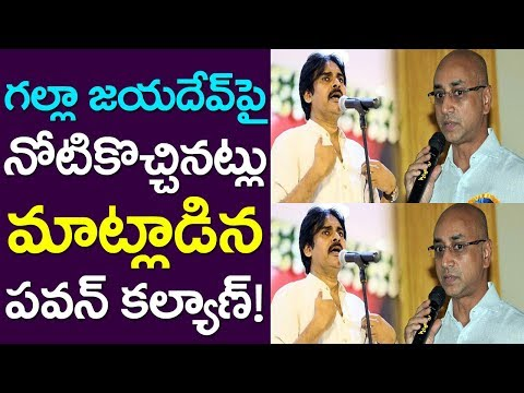 Pawan Kalyan Loose Tounge On Guntur MP Galla Jayadev| Andhra Pradesh| Take One Media| Lok Sabha | AP