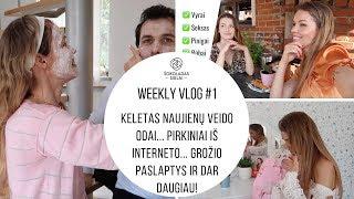Weekly Vlog #1. Keletas naujienų veido odai / Pirkiniai iš interneto / Grožio paslaptys ir daugiau