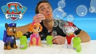 Paw Patrol Action Bubble Blowers - Chase, Marshall & Skye ! || Toy Review || Konas2002
