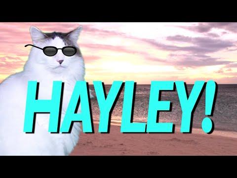 HAPPY BIRTHDAY HAYLEY! - EPIC CAT Happy Birthday Song