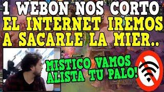 IWO Y MISTICO ASADO BUSCAN CON PALO AL CULPABLE QUE LES CORTO EL INTERNET