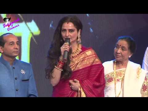 Rekha Asha Bhosle Asha Parekh & others  at Marathi Taraka 100th...