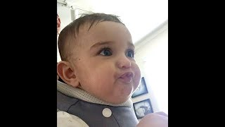 Baby Discovers Solid Food | Funny Baby Video | Try NOT to Laugh