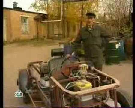 Self-made electric car (Syktyvkar, Russia)