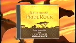 The Lion King II - Simba's Pride Soundtrack (1998) Promo (VHS Capture)