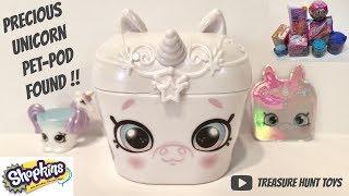Shopkins precious unicorn pet pod and blind bag surprises