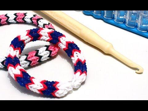 Tuto bracelet lastique quadrafish rainbow loom en fran ais youtube - Comment faire un bracelet en elastique ...