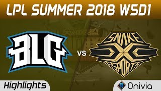 BLG vs SS Highlights Game 2 LPL Summer 2018 W5D1 Bilibili Gaming vs Snake Esports by Onivia