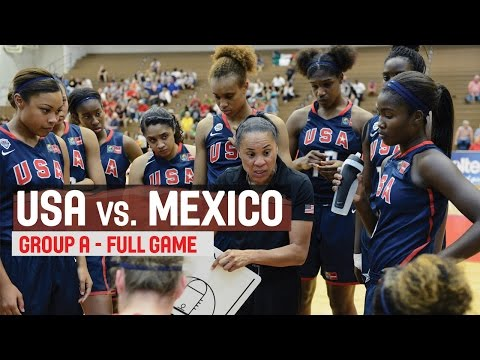 Mexico vs. USA - Group B  - 2014 FIBA Americas Championship for Women U18