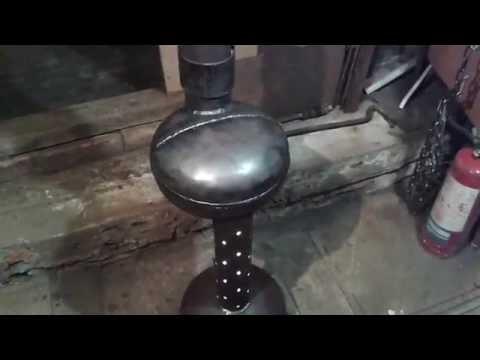 Печи на отработанном масле своими руками из газового баллона видео