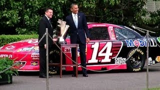 President Obama Honors Tony Stewart's NASCAR Sprint Cup Championship