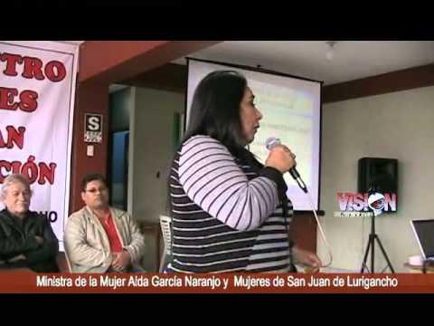 Ministra de la Mujer AIda García Naranjo visitó SJL