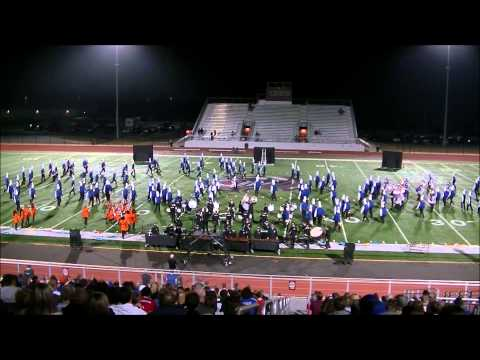 Bryant High School Marching Band at regional marching assessment Benton 10/2014