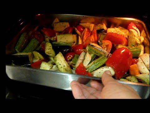Овощи в Духовке, Баклажаны с Овощами в Духовке.