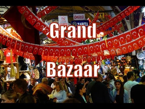Shopping at the Grand Bazaar in Istanbul, Turkey (Kapalıçarşı - Büyük Çarşı) Travel Video