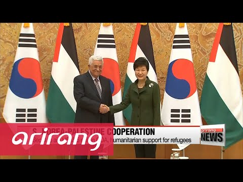 Pres. Park sits down with Palestinian leader Mahmoud Abbas