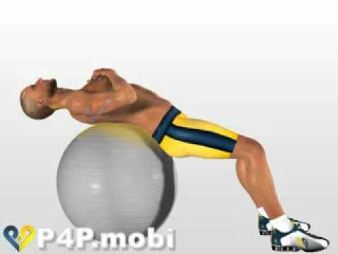 Ab exercises  with Swiss Ball