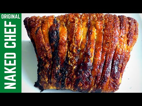 Roasted Pork Loin & Pork Crackling How to make recipe