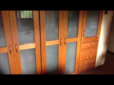 Closet con puertas en vidrio youtube - Puertas deslizantes de cristal ...