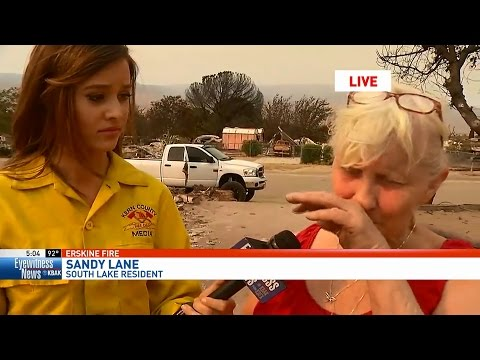 Woman loses home in California wildfire