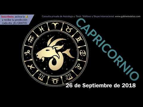 Horóscopo Diario - Capricornio - 26 de Septiembre de 2018
