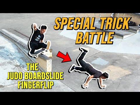 SPECIAL TRICK BATTLE - The Judo Boardslide Fingerflip