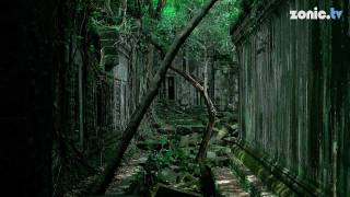 Cambodia Temple with Vines (Beng Mealea) (HD)