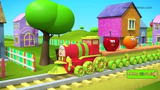 Falanchi Aaggadi | फळांची अगाडी | learn about fruits with the fruit train | kiddiestv marathi