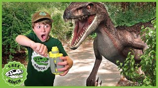 Dinosaur Escape Showdown! Giant Dinosaurs for Kids with Nerf Toy Adventure & Mystery Toys