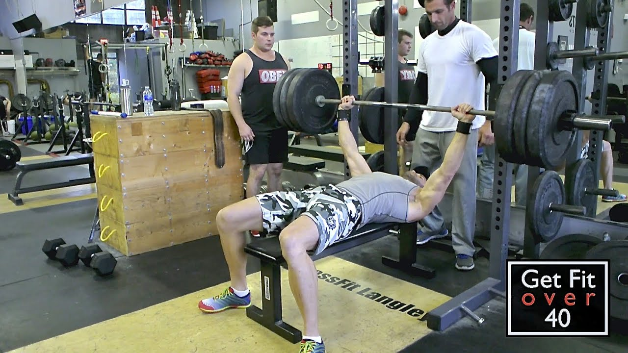 crossfit langley max bench press workout youtube