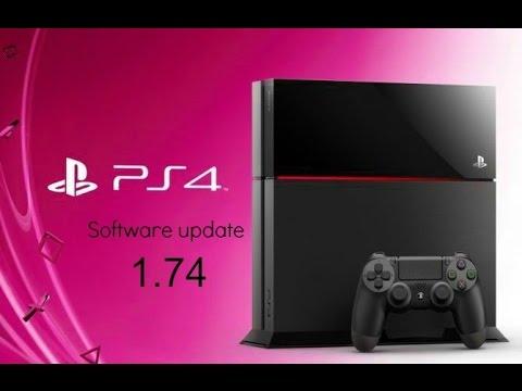 PS4 Software Update 1.74