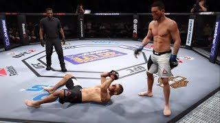 Khabib vs. Demian Maia (EA Sports UFC 2) - CPU vs. CPU
