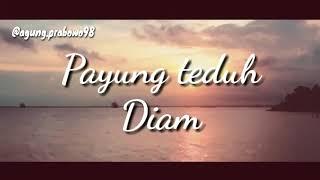 Payung teduh - Diam (Cover lirik video)