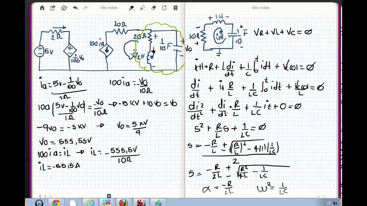 Circuito Rlc Serie : Analisis circuito rlc en serie youtube