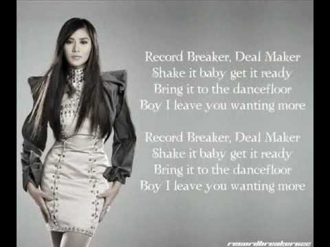 Sarah Geronimo - Record Breaker (LYRICS)