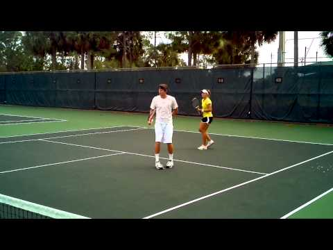 Scott paschal tennis pro player multiple action volley drill