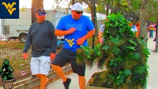 BUSHMAN SCARE PRANK AT WEST VIRGINIA UNIVERSITY FOOTBALLGAME