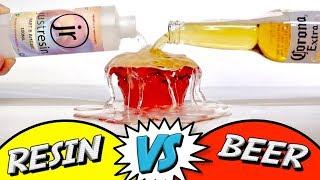 Resin Vs Beer - Suspending liquid in epoxy resin